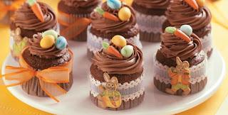 Cupcake de cenoura e chocolate