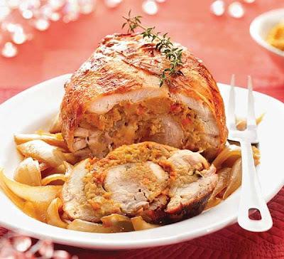 Rocambole de Frango - receitas natalinas
