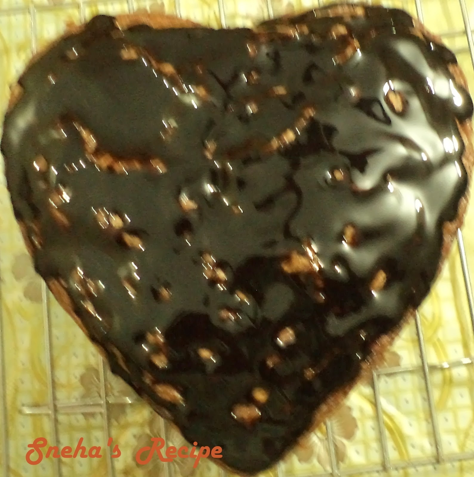 Eggless Chocolate Cake- Heart Shaped - Valentine's Day Special