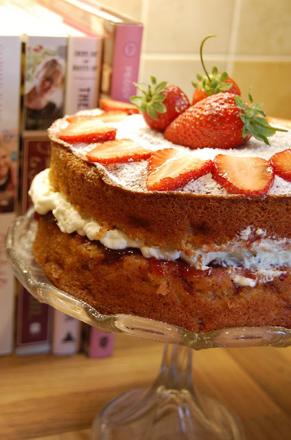 Tolpuddle Martyrs Strawberries and Cream Sundae Cake