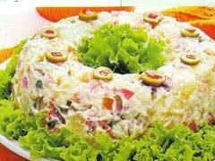 de salada de chuchu batata e cenoura cozida