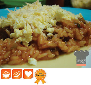 de arroz carreteiro com carne fresca