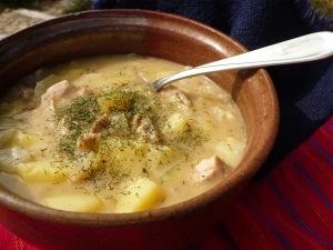 fazuľova polievka na kyslo
