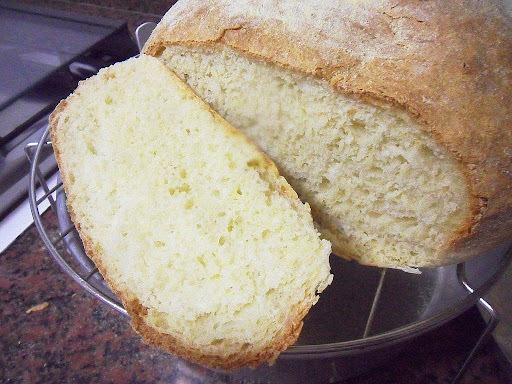 pão caseiro fuba e trigo