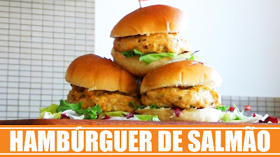 Mini Hambúrguer de Salmão