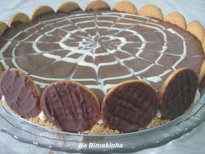 torta de bolacha triturada