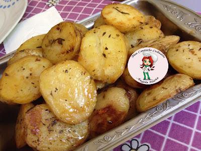 Batatas assadas temperadas com Molho D'Ajuda