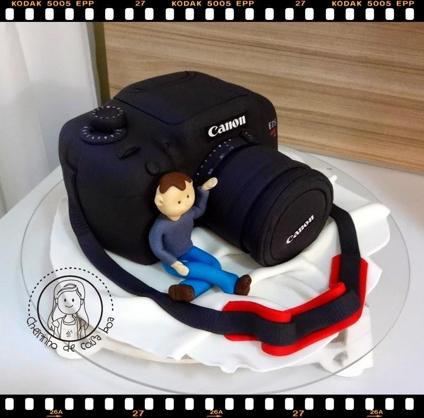 Bolo Câmera Fotográfica