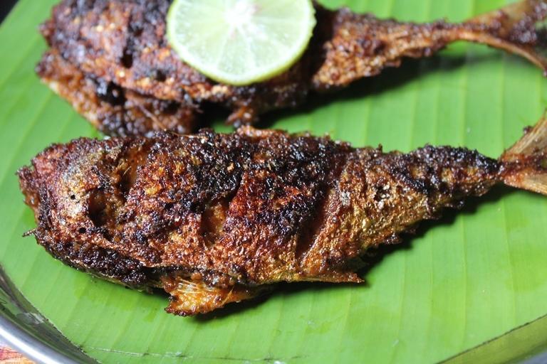 Ayala Fry Recipe / Mackerel Fry Recipe / Curry Leaves Fish Fry Recipe