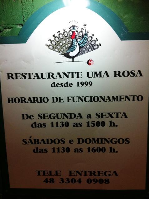 Sopas na Restaurante Uma Rosa