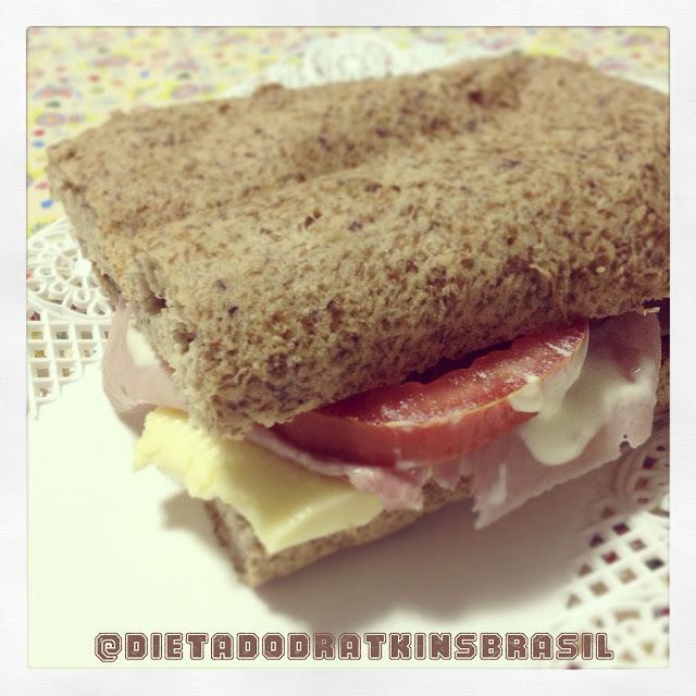Sanduíche tipo Subway Atkins