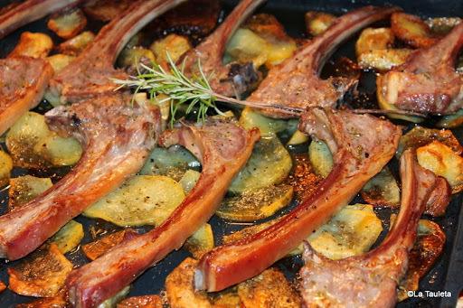Chuletas de Cordero torradas al horno