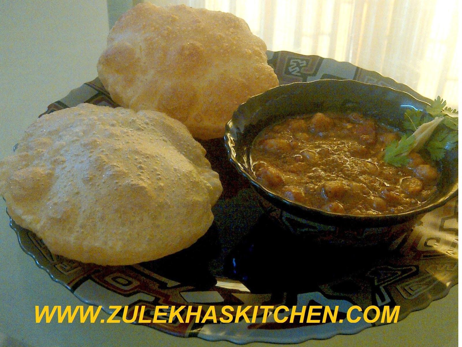 Recipe of chole puri or poori
