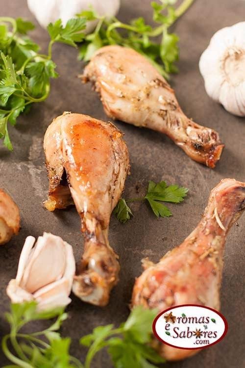 fácil de coxa e sobrecoxa de frango