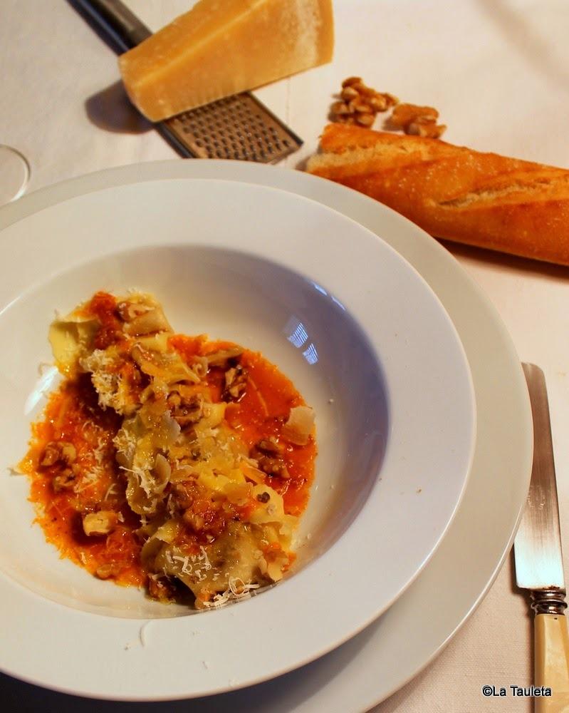 Tortellini rellenos de Gorgonzola y nueces, pasta fresca de Giovanni Rana