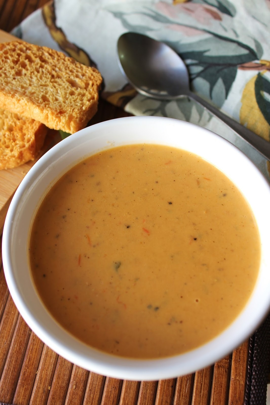 African Peanut Soup | Creamy Bell pepper and Peanut butter soup