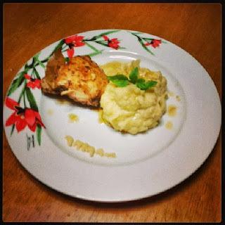 Κοτόπουλο με βινεγκρέτ μουστάρδας και πουρέ πατάτας!