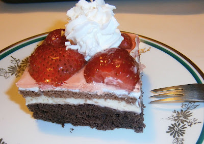 jahodový koláč s tvarohom