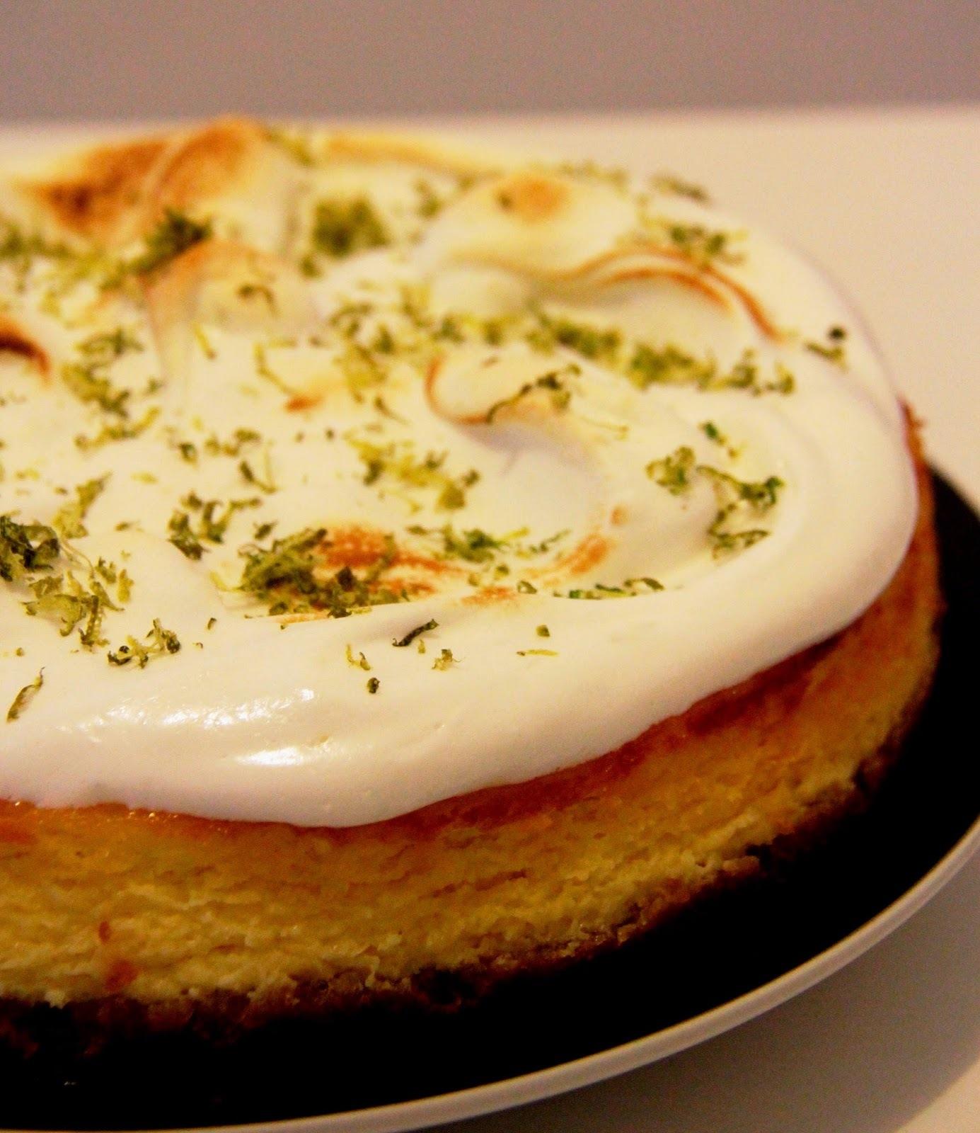 Cheesecake de limão com merengue e eu me achando demais!