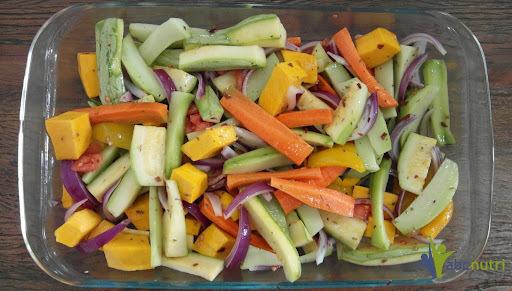 Legumes no forno