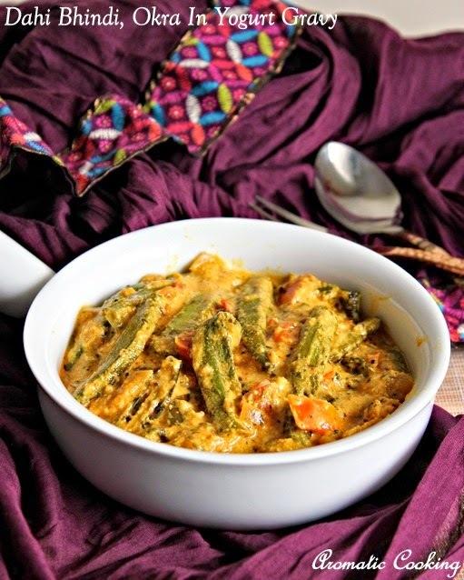 Dahi Bhindi, Okra In Yogurt Gravy