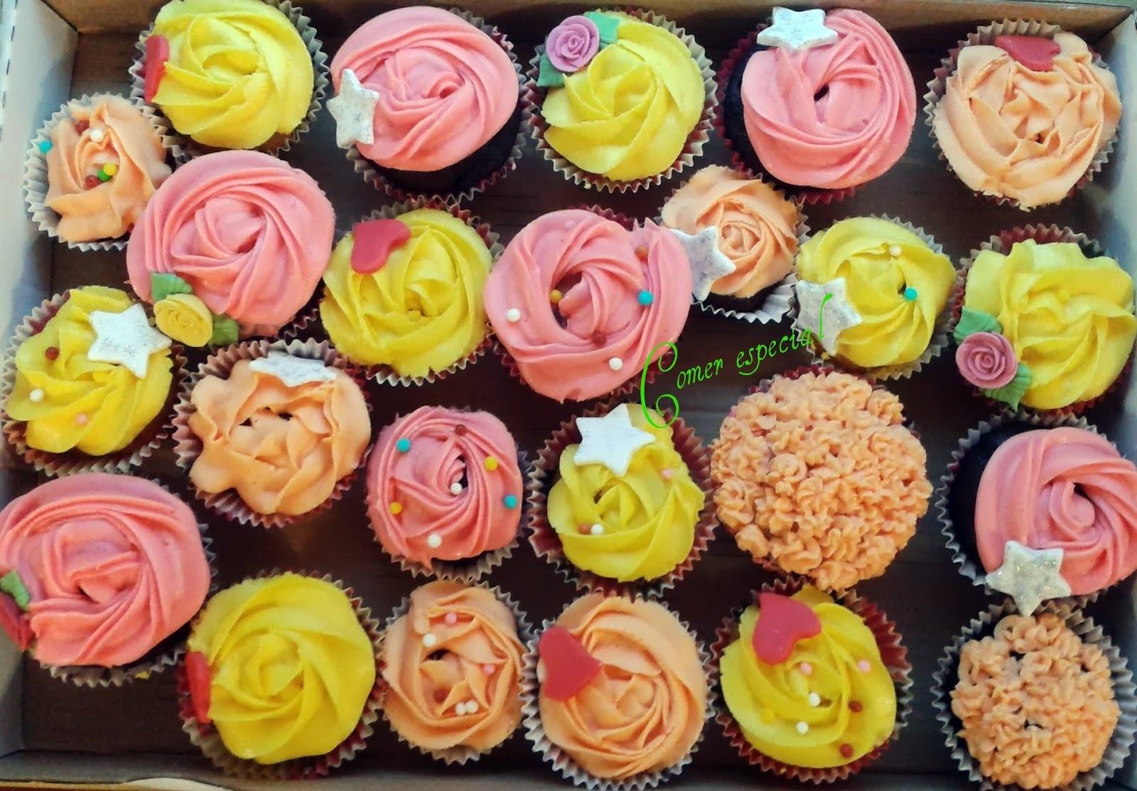 Cupcakes de chocolate y naranja aptos para intolerantes a la lactosa