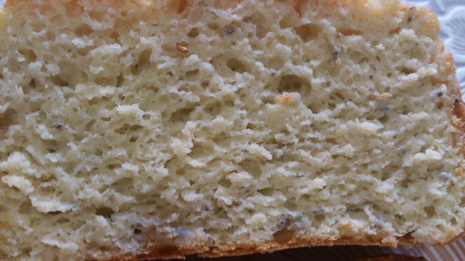 Pão de grão de bico com orégano