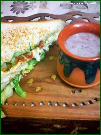 masala cheese sandwich