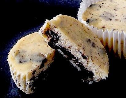 Tσιζκέικς με γεμιστά μπισκότα ορέο