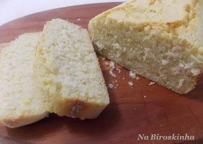 Pão de Milho Sem Glúten e Sem Lactose