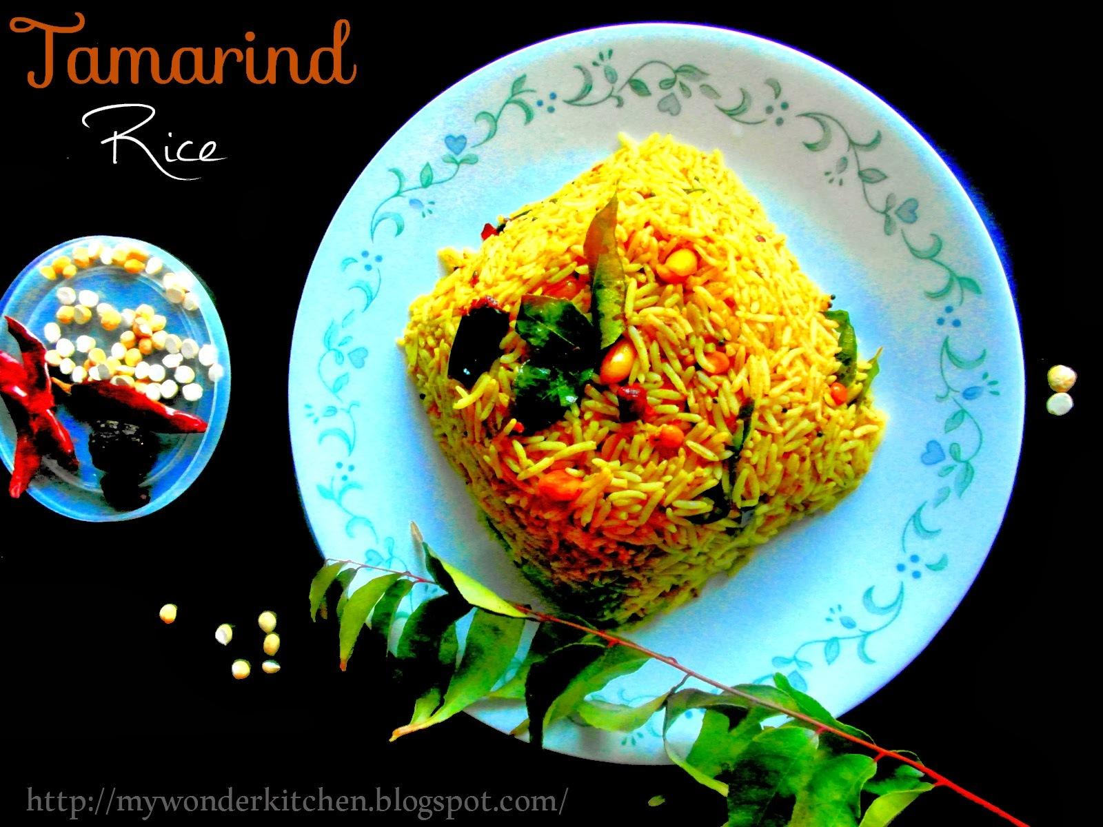 Tamarind rice|Imli Bhath|Puliyoara/Andhra cusine|Puliyodarai\Tamil Iyengar cusine