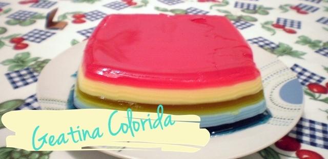Gelatina Colorida!