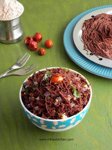 Ragi Savory Sev | Sevai | Finger Millet String Hoppers from Scratch