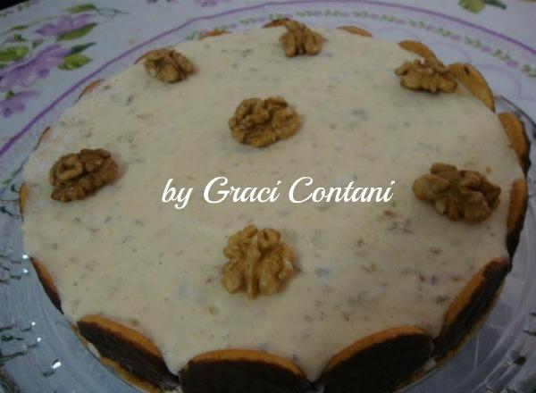 Torta gelada de nozes: Graci Contani