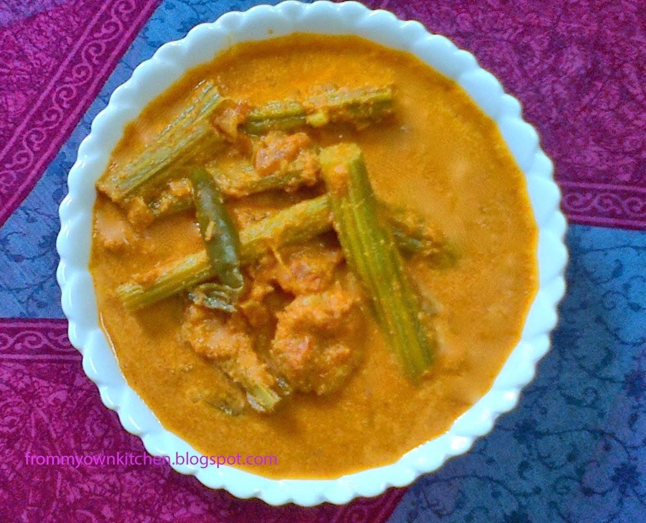 Muringakka Chemmeen Curry/Drumstick Prawns Curry