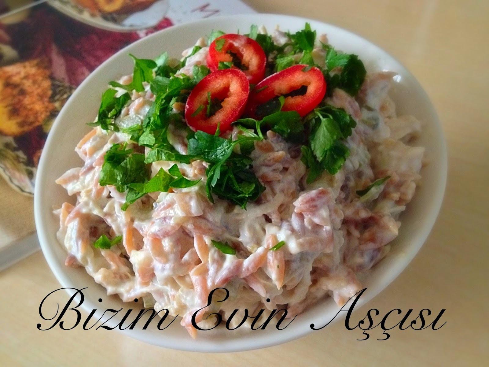 Tavuklu-Köz Patlıcanlı Salata