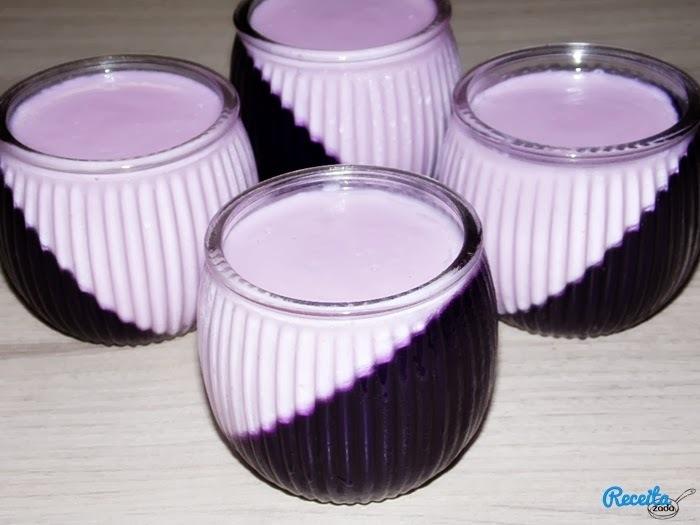 gelatina colorida com creme de leite e leite condensado maizena e leite