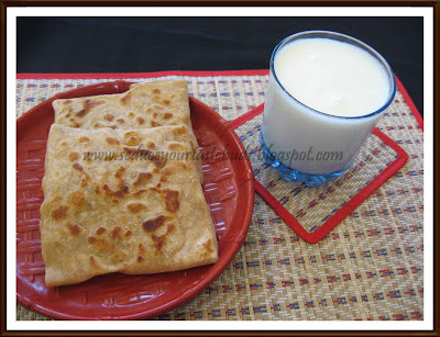 Turkish Gozleme  and Ayran