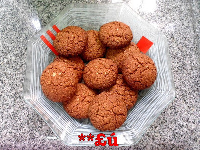 biscoito de aveia com farinha de trigo integral