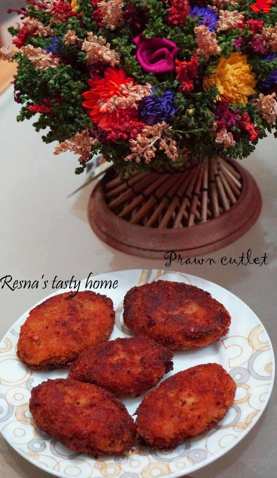 Prawn cutlet-with stepwise pictures