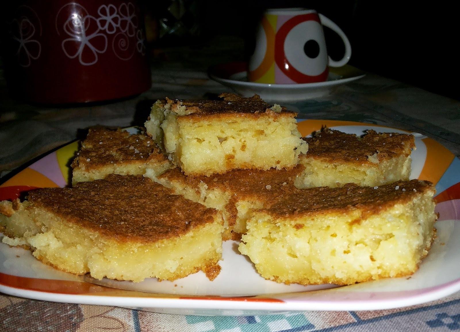 bolo de farinha de milho biju