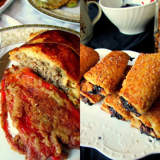 Lisnata veknica od mesa i krastavčića, pohovane paprike i brzi paketići sa džemom i cimetom :-)