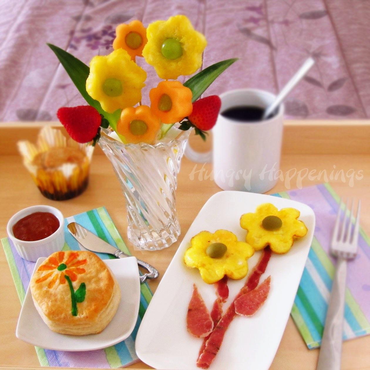 Café da manhã especial para o dia das mães