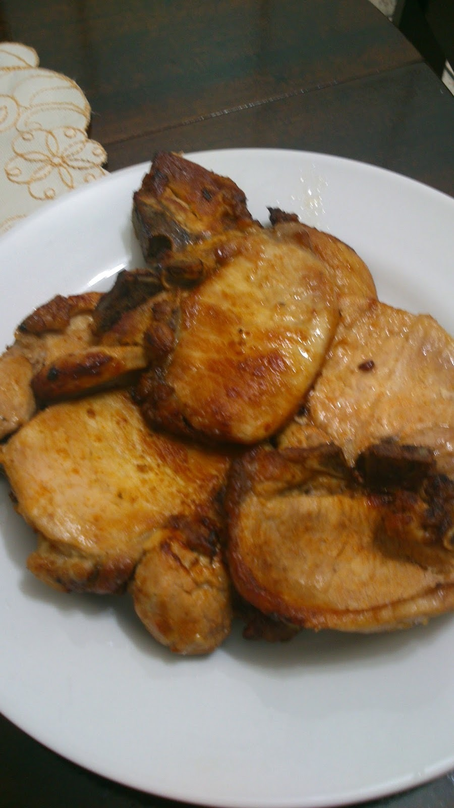 como deixar bisteca de porco frita macia