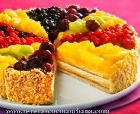Deliciosa Tarta de frutas tropical