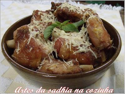 Assas de Peru assada com crosta de Parmessão e Manjar de Coco Ducoco.