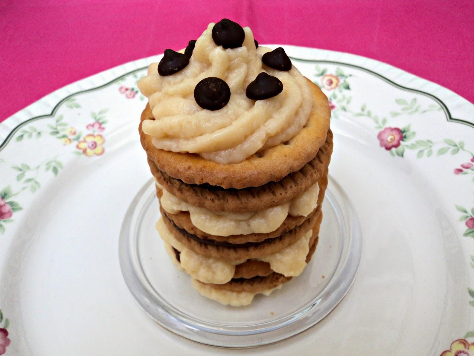 Tarta de galletas Príncipe a la crema