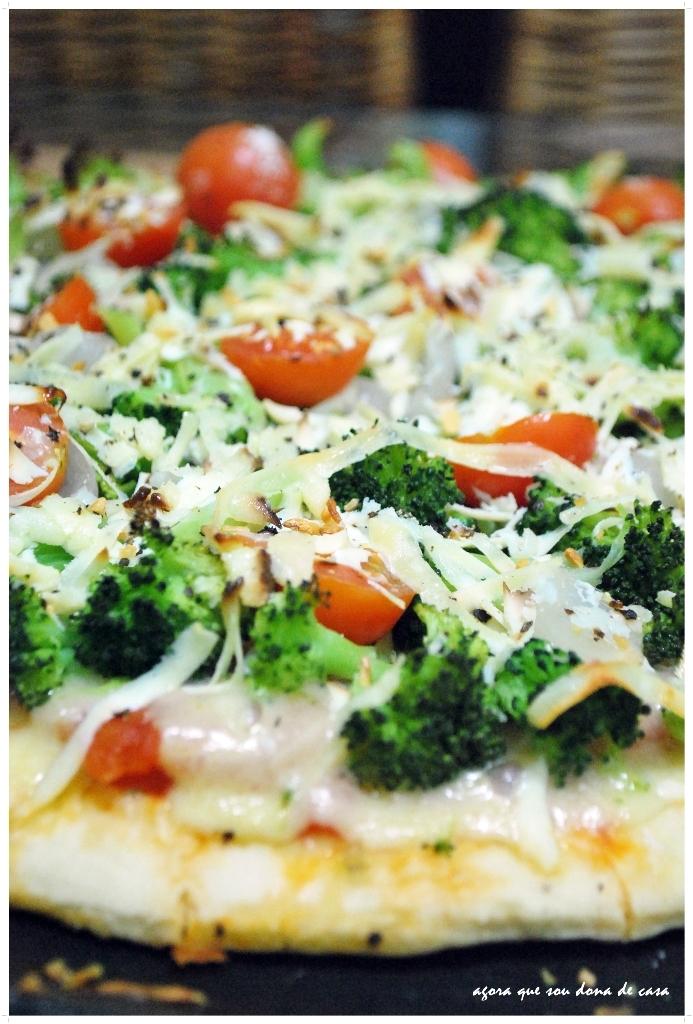 pizza light de brócolis