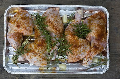 Muslos de pollo al horno con curry rapidos