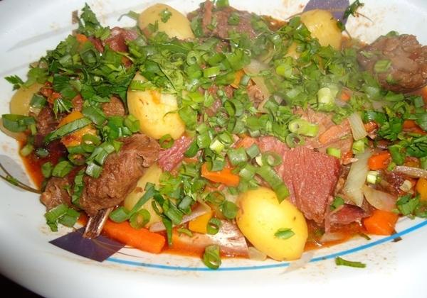 Carne de Panela com Costelinha de Porco Defumada